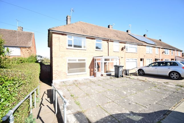 Thumbnail End terrace house to rent in Amyson Road, Thurnby Lodge, Leicester