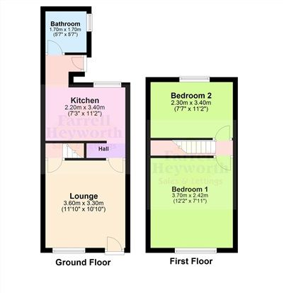 Floor Plan of Stewart Street, Barrow In Furness LA14