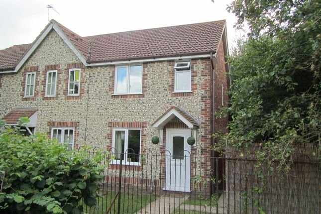 Thumbnail End terrace house to rent in Marsh Gardens, Hedge End, Southampton
