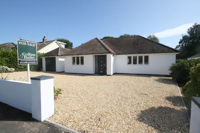 Thumbnail Detached bungalow for sale in Shorefield Way, Milford On Sea