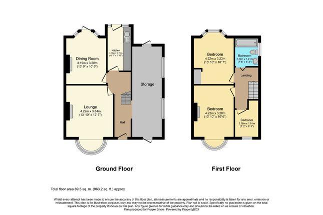 Floor Plan of Daventry Road, Coventry CV3