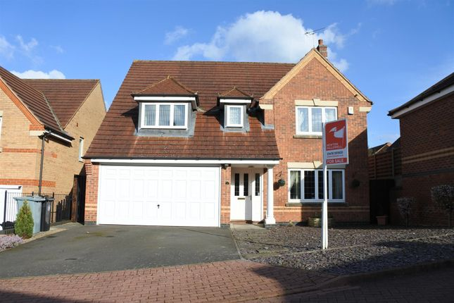 Thumbnail Detached house for sale in Hadleigh Close, Grantham
