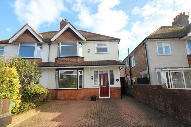 Thumbnail Semi-detached house for sale in Kinfauns Avenue, Roselands, Eastbourne