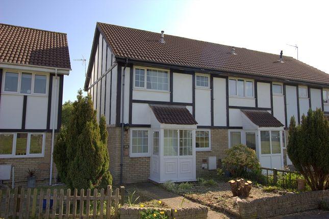 Thumbnail End terrace house to rent in Lavender Court, Brackla, Bridgend.