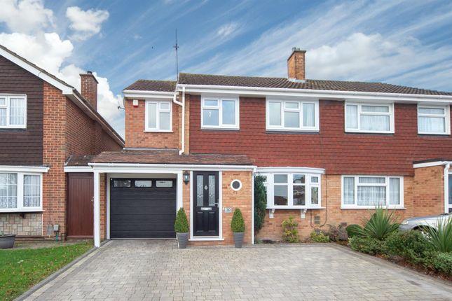Thumbnail Semi-detached house for sale in Bunhill Close, West Dunstable, Bedfordshire