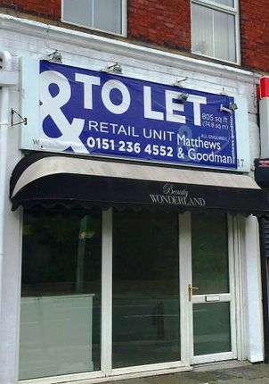 Thumbnail Retail premises to let in 19 Crosby Road North, Waterloo
