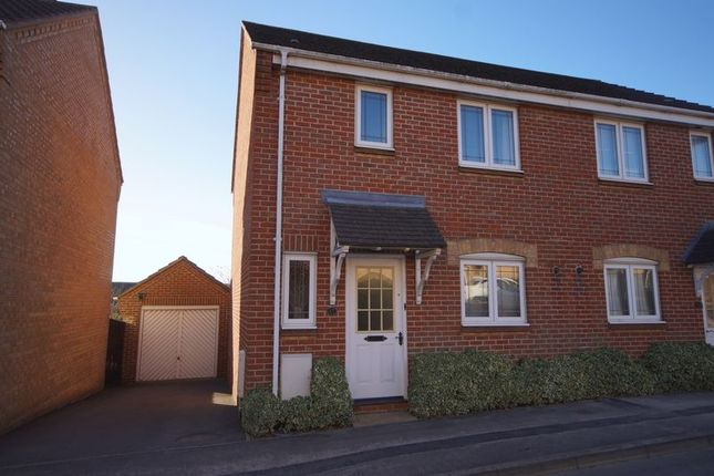Thumbnail Semi-detached house for sale in Caer Peris View, Portchester, Fareham