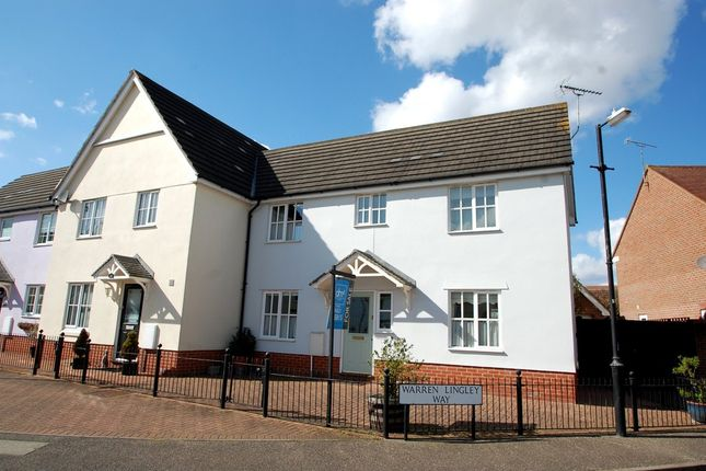 Thumbnail End terrace house for sale in Wilkin Drive, Tiptree, Colchester