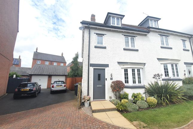 Thumbnail Town house for sale in Dairy Way, Kibworth Harcourt, Leicester
