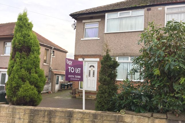 Thumbnail Semi-detached house to rent in Brantwood Road, Bradford