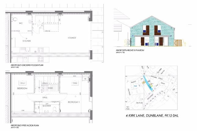 Thumbnail Mews house for sale in Kirk Lane (1/2), Dunblane, Dunblane