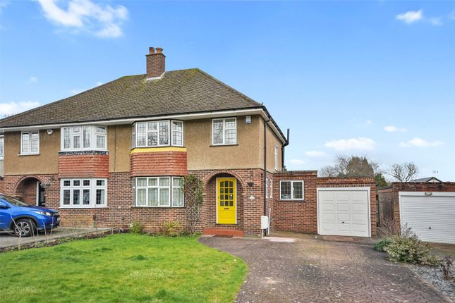 Thumbnail Semi-detached house to rent in Kent Gardens, Ruislip, Middlesex