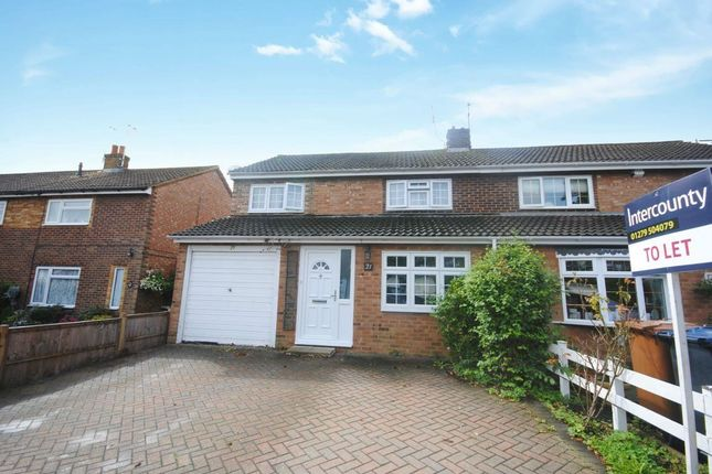 Thumbnail Detached house to rent in Hayley Bell Gardens, Bishops Stortford, Herts