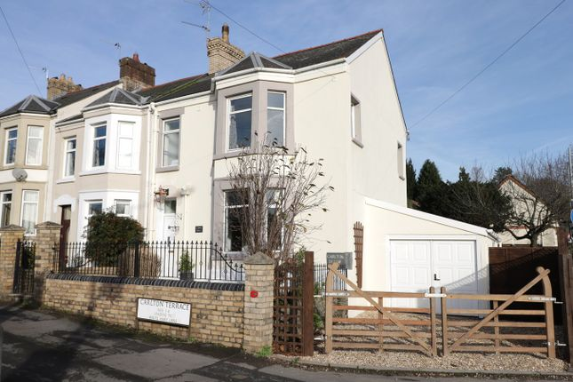 Thumbnail End terrace house for sale in Carlton Terrace, Caerleon, Newort