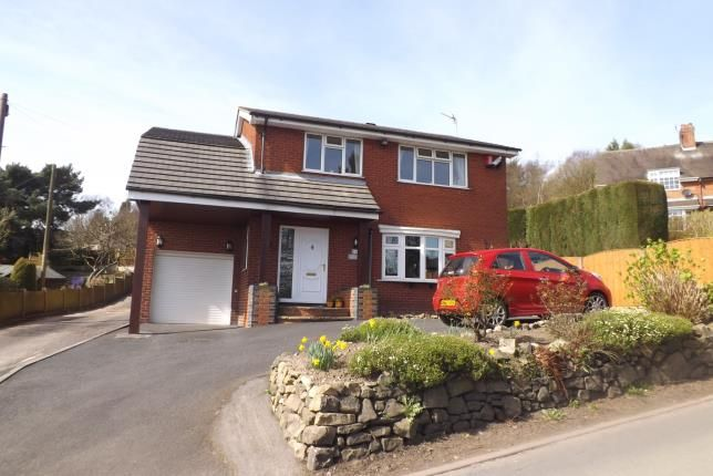 Thumbnail Detached house for sale in Mow Cop Road, Mow Cop, Stafforshire, Cheshire Border