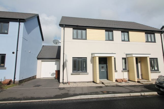 Thumbnail Semi-detached house for sale in Westleigh Way, Saltram Meadow, Plymstock