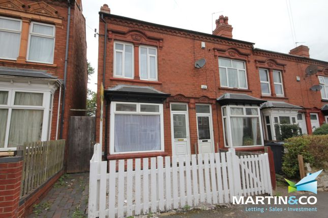 Thumbnail End terrace house to rent in Selsey Road, Edgbaston