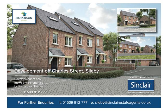 Thumbnail Town house for sale in Charles Street, Sileby, Leicestershire