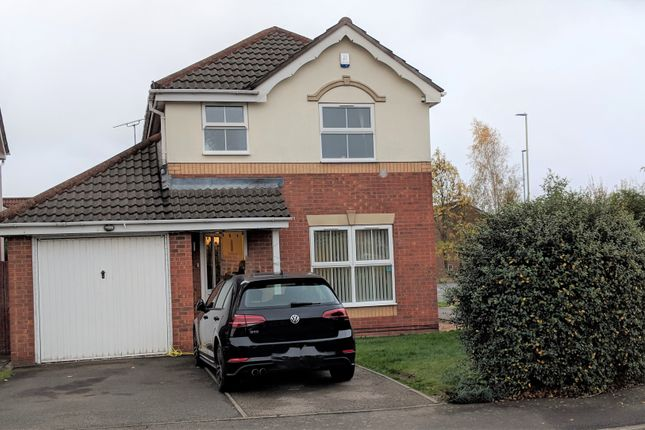 Thumbnail Detached house to rent in Haskell Close, Leicester