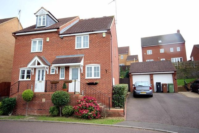Thumbnail Semi-detached house for sale in Hunt Close, Wellingborough, Northamptonshire.