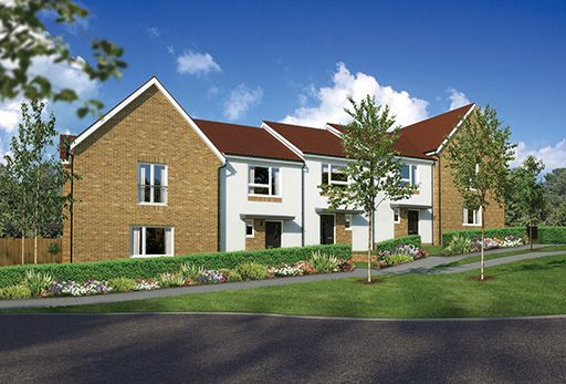 """Thumbnail Terraced house for sale in """"Aversley Mid"""" at Kingswells, Aberdeen"""