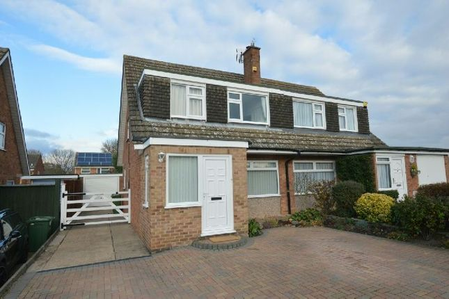 Thumbnail Semi-detached house for sale in Tudor Drive, Cosby, Leicester