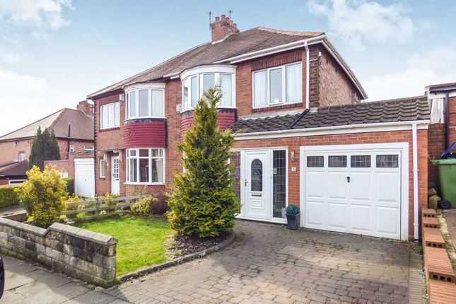 Thumbnail Semi-detached house for sale in St. Julien Gardens, High Heaton, Newcastle Upon Tyne