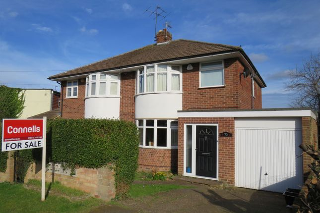 Thumbnail Semi-detached house for sale in Bouverie Road, Hardingstone, Northampton