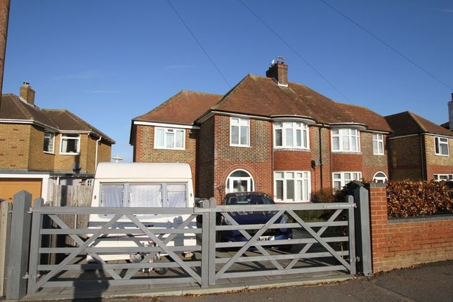 Thumbnail Semi-detached house for sale in Station Road, Walmer, Deal