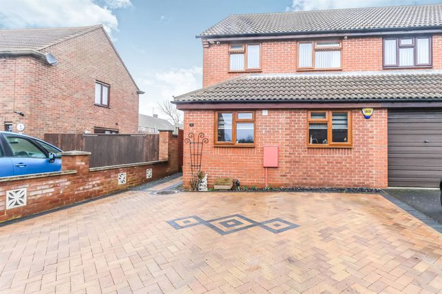 Thumbnail Semi-detached house for sale in Carey Way, Rushden