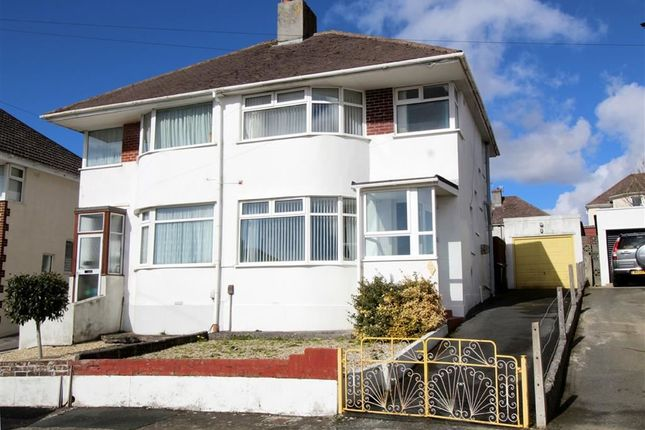 Thumbnail Semi-detached house for sale in Churchway, Weston Mill, Plymouth