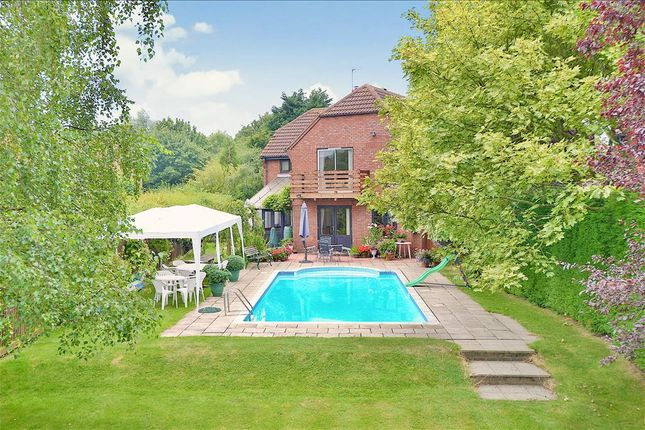 Thumbnail Detached house for sale in Wellhayes, Great Linford, Milton Keynes