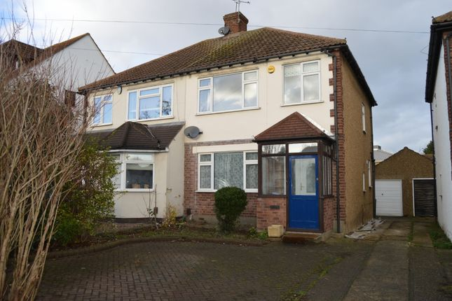 Thumbnail Semi-detached house to rent in Squirrels Heath Road, Harold Wood, Romford
