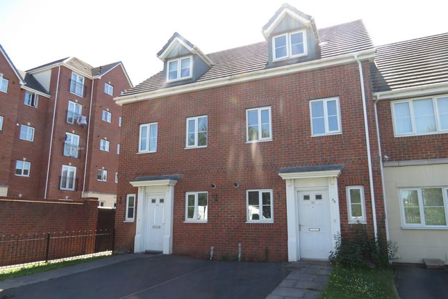 Thumbnail Town house for sale in Woodcutter Close, Walsall