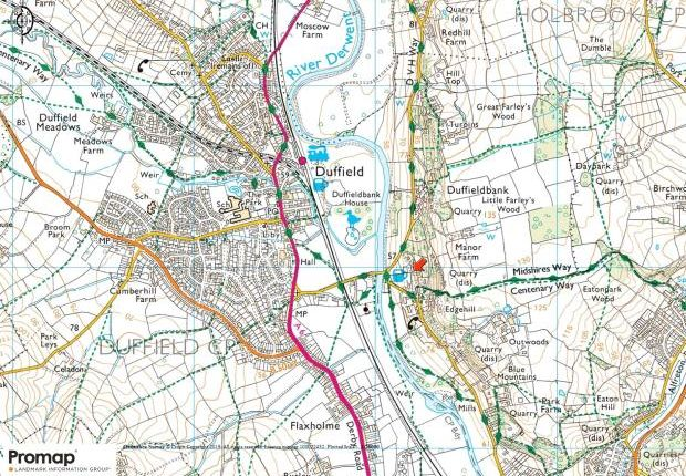 Location Plan of Duffield, Belper, Derbyshire DE56