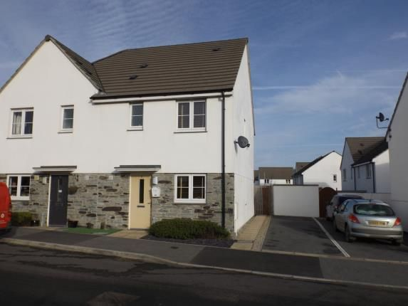 Thumbnail Semi-detached house for sale in Quintrell Downs, Newquay, Cornwall