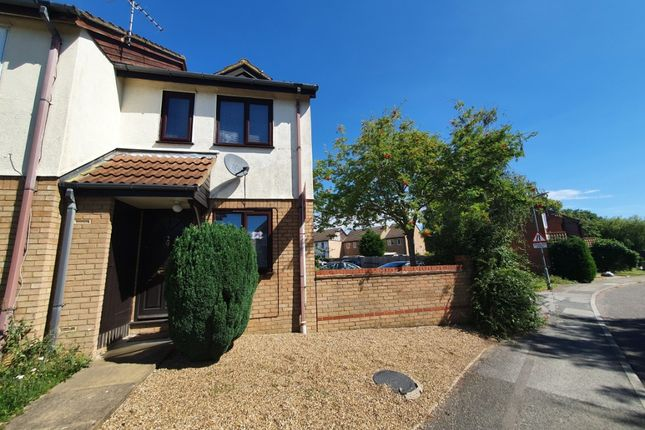Thumbnail End terrace house to rent in Kinross Drive, Bletchley, Milton Keynes