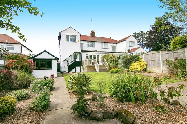 Thumbnail 4 bed semi-detached house for sale in Westway, Lower Heswall, Wirral