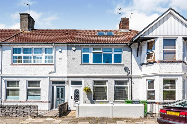 Thumbnail Terraced house for sale in Victoria Avenue, Victoria Park, Cardiff