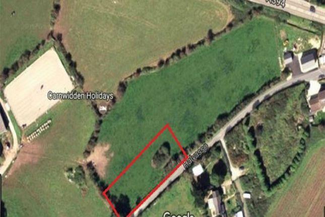 Thumbnail Land for sale in Land At Carn Widden Farm, Longdowns, Nr Penryn, Cornwall