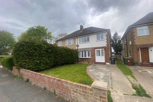 Thumbnail Semi-detached house to rent in Rutherford Way, Bushey Heath, Bushey