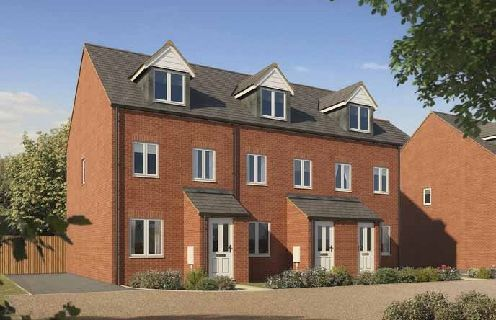 """Thumbnail Town house for sale in """"The Souter """" at Bishops Hull Road, Bishops Hull, Taunton"""