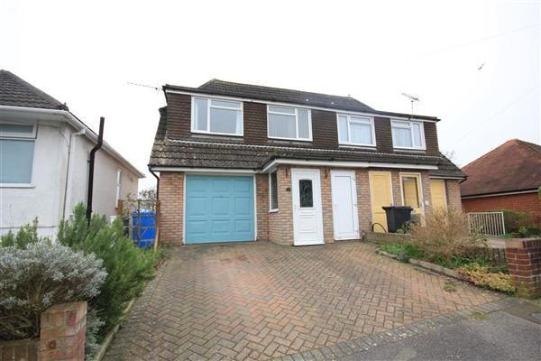 Thumbnail Semi-detached house to rent in Fortescue Road, Parkstone, Poole