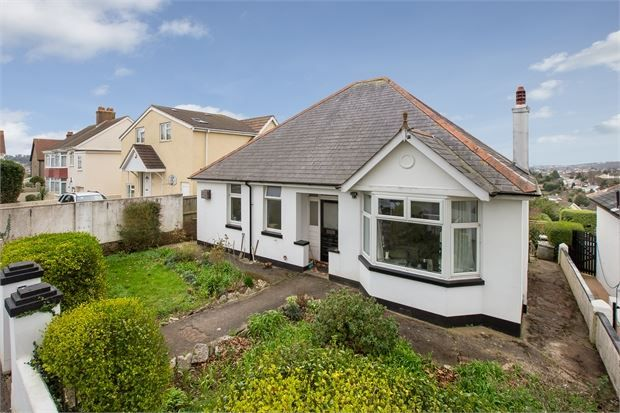 Thumbnail Detached bungalow for sale in Audley Avenue, Torquay, Torquay, Devon.