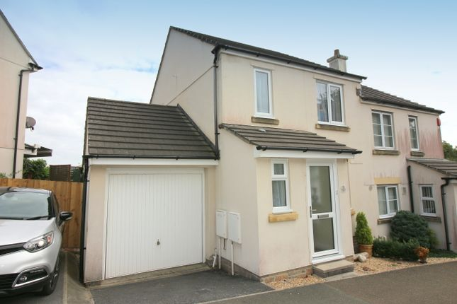 Thumbnail Semi-detached house for sale in Meadow Drive, Pillmere, Saltash