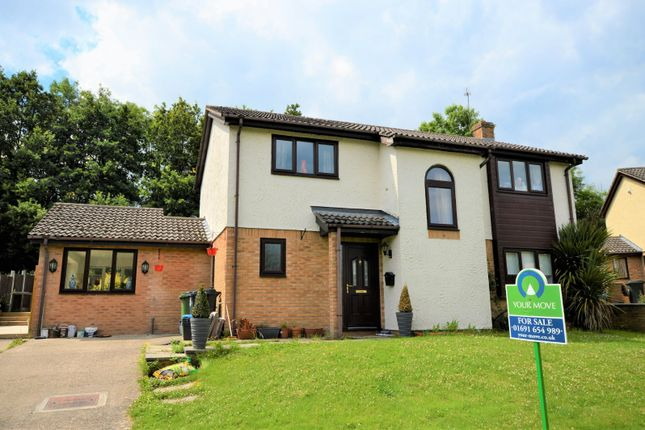 Thumbnail Detached house for sale in Henlle Gardens, Gobowen, Oswestry, Shropshire