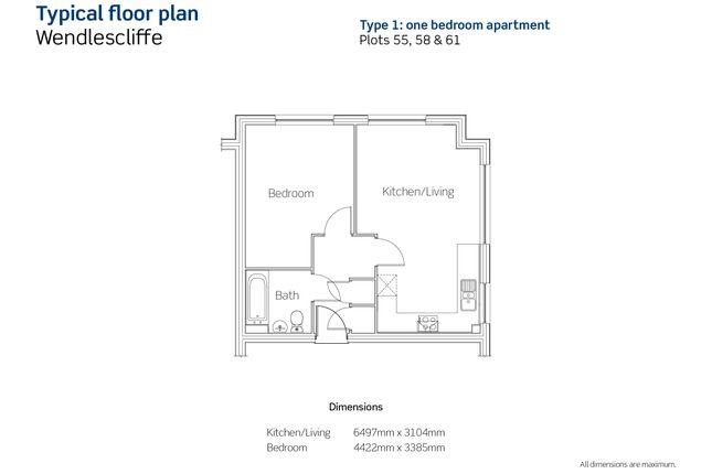 Floorplan of Plots 55, 58 & 61, Wendlescliffe, Evesham Road, Bishops Cleeve, Gloucestershire GL52