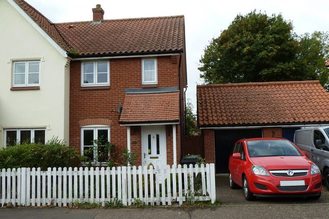 Thumbnail Semi-detached house to rent in Millers Drive, Dickleburgh, Diss