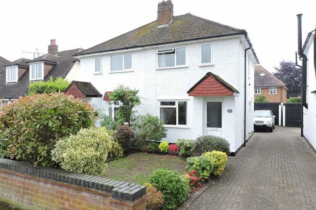 Thumbnail Semi-detached house for sale in Church Road, Byfleet, West Byfleet