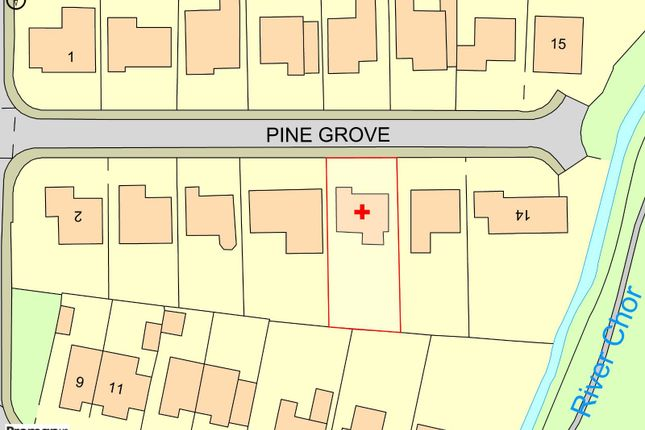 Plot Map of Pine Grove, Chorley, Lancashire PR6